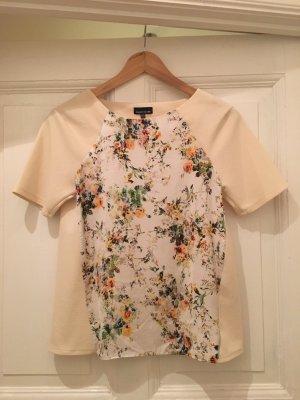 Cremefarbenes Shirt mit Bluemprint von Warehouse