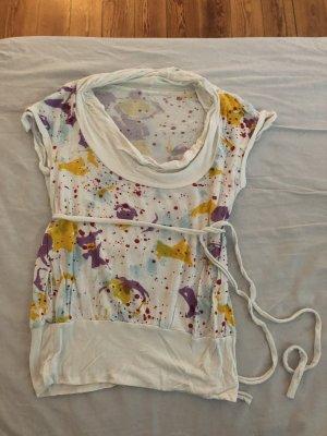 Mio Animo Cowl-Neck Shirt multicolored