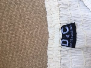 Dolce & Gabbana Top recortado blanco puro