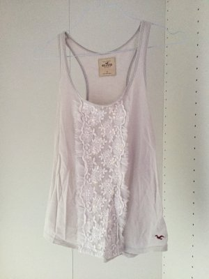 Hollister Frill Top cream-natural white