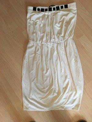 Cremefarbenes trägerloses Mango Kleid