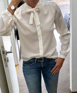 Max & Co. Blusa collo a cravatta bianco sporco Seta