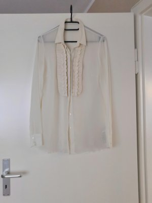 Guess Zijden blouse wolwit-room