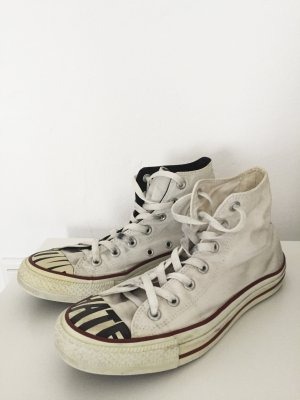 Cremeweisse Converse Chuck Taylor All Star Love Hate Limited Edition High Top
