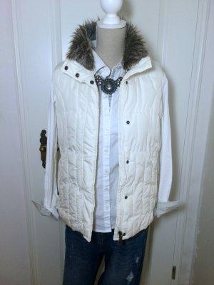 Vest van imitatiebont room-wit