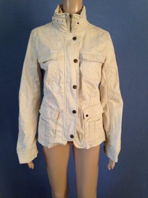 Cremeweiße Jacke aus Baumwolle