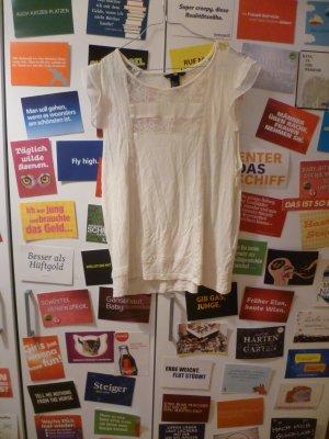 Cremeweiße Spitzenbluse von H&M, Lace, Rüschen, Vintage, Blogger, Romance