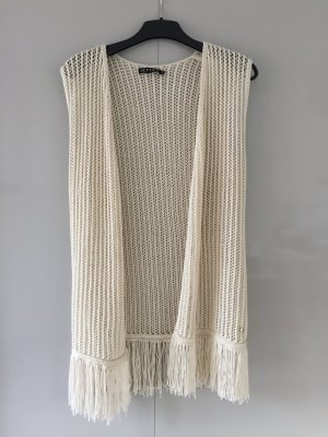 Jette Knitted Vest natural white polyacrylic