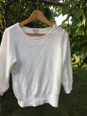 H&M Jersey de lana blanco puro-blanco