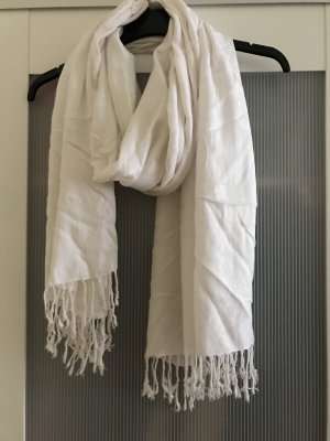 H&M Fringed Scarf natural white