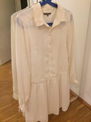 Cremeweißes Kleid elegant