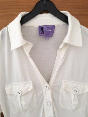 Cremeweißes Stretch-Shirt/Schwangerschaftsshirt Paulina