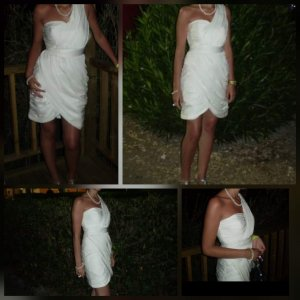 H&M Off-The-Shoulder Dress cream