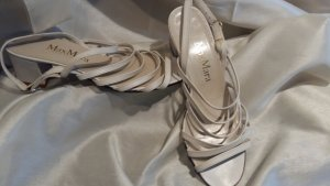 Max Mara Strapped High-Heeled Sandals natural white leather