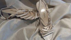 cremweiße elegante Max Mara Riemchen- Sandalette 36,5