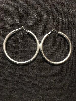 Creolen 925 gestempelt Ohrringe groß