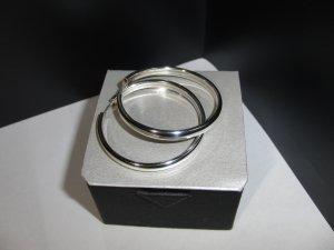 Creolen aus 925er Silber, Größe: ca. 3,9 cm