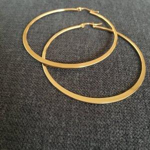 Creolen gold aus Edelstahl groß 6 cm