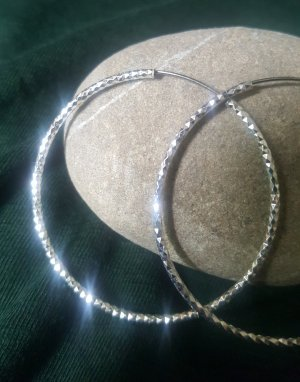 Ear Hoops silver-colored metal