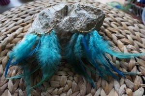 Creolen mit schönen Federn