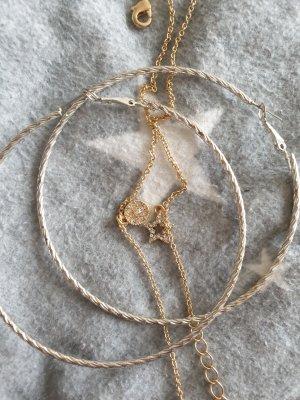 Creolen silber Armbänder Gold