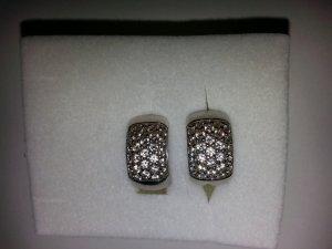 Ear Hoops light grey real silver