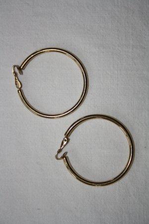 Creolen vergoldet / Klappcreolen groß / Ohrringe / Modeschmuck