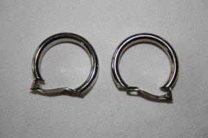 Créoles argenté métal