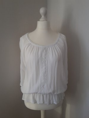Crepe-Bluse mit Raffung