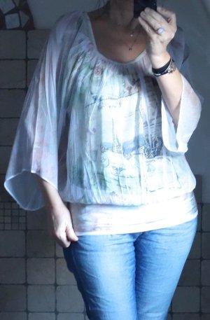 Carmen Blouse cream-beige polyester