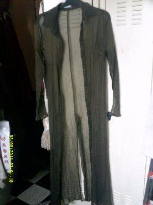 Betty Barclay Blusa larga verde oliva piel artificial