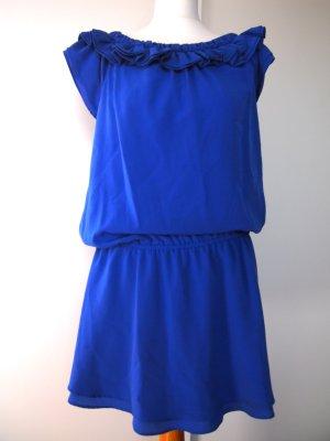 Crepe Kleid in Königsblau GR. S