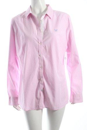 Crew Clothing Karobluse rosa-weiß Vichykaromuster klassischer Stil