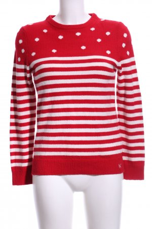 Crew Clothing Crewneck Sweater red-white mixed pattern casual look