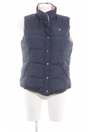 Crew Clothing Reversible Vest dark blue-pink quilting pattern casual look