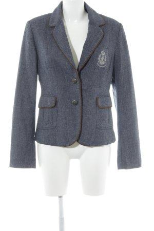 Crew Clothing Woll-Blazer graublau-weiß Fischgrätmuster Business-Look