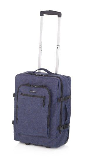 Crew Denim Koffer Trolley Handgepäck Format 55 cm mit Laptop Fach