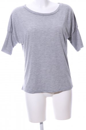 Crew United Oversized shirt lichtgrijs gestippeld casual uitstraling