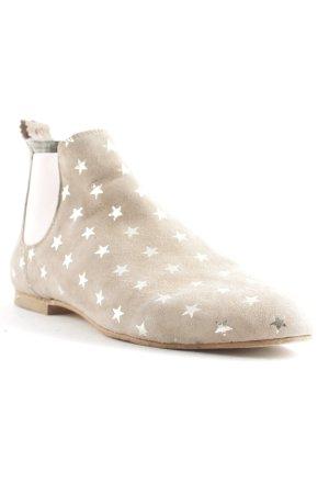 Crick it Chelsea Boots beige-rosa Sternenmuster Street-Fashion-Look