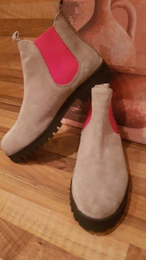 Crick it Chelsea laarzen lichtgrijs-roze