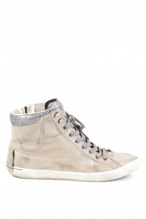 Crime High Top Sneaker creme-silberfarben Casual-Look