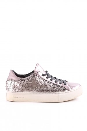 Crime Lace-Up Sneaker pink casual look
