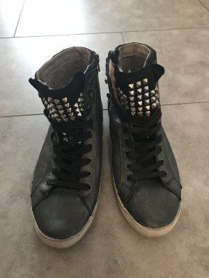Crime Sneaker alta grigio scuro