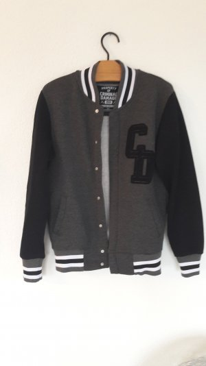 Criminal Damage Collegejacke Baseballjacke Sweatblouson Sweatjacke College S