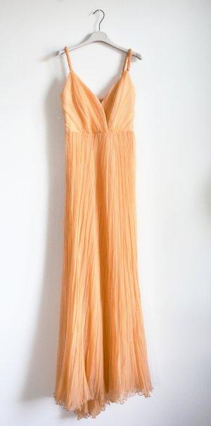 Alberta Ferretti Vestido largo albaricoque Seda
