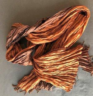 Crinkle Seidenschal Farbverlauf bronzefarben/braun