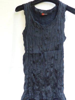 Crinkle Seidentop dunkelblau von Lecomte