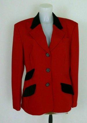 Crisca Blazer Jacket Jacke Schurwolle Anzugjacke Rot Gr. L