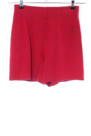 Crisca High waist short rood casual uitstraling