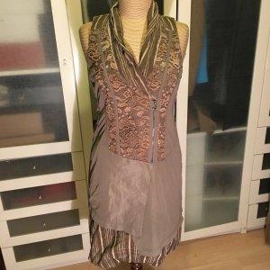 Crisca Balloon Dress light brown